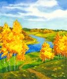 Escena brillante del otoño Fotos de archivo