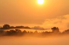 Escena brumosa de la mañana Foto de archivo