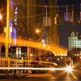 Escena céntrica de la calle en Albany NY Fotografía de archivo