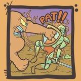 Escena cómica de la lucha Imágenes de archivo libres de regalías