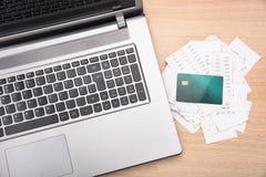 Escena casera de las finanzas imagen de archivo libre de regalías