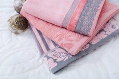 Escena con las toallas Imagen de archivo libre de regalías