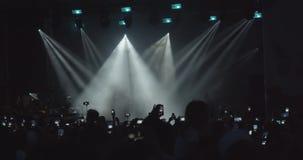 Escena con los rayos de la luz metrajes