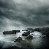 Escena costera dramática Imagen de archivo libre de regalías
