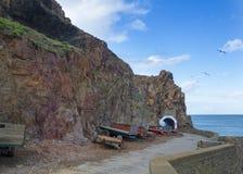 Escena costera en Sark Imágenes de archivo libres de regalías