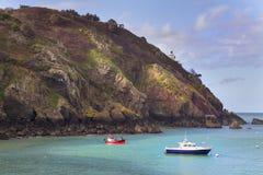 Escena costera en Sark Foto de archivo