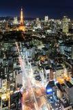 Escena crepuscular de la torre de Tokio en Tokio Imagen de archivo libre de regalías