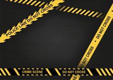 Escena criminal Línea de policía No cruce libre illustration