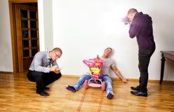 Escena de asesinato divertida Fotografía de archivo