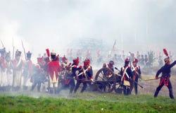 Escena de batalla Imágenes de archivo libres de regalías