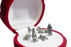 Escena de bolsillo de la natividad Foto de archivo libre de regalías