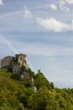 Escena de Gaillard del castillo francés fotos de archivo