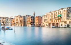 Escena de Grand Canal, Venecia Foto de archivo libre de regalías