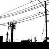 Escena de Grunge blanco y negro Imagenes de archivo