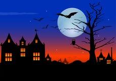 Escena de Halloween Imágenes de archivo libres de regalías