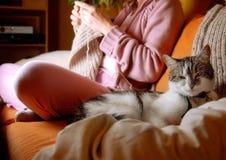 Escena de Idylic en sala de estar Foto de archivo