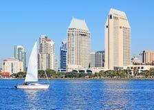 Escena de la bahía de San Diego Foto de archivo libre de regalías