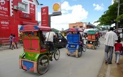 Escena de la calle de Antananarivo, Madagascar Imagen de archivo