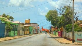 Escena de la calle de Aruba Foto de archivo libre de regalías