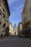 Escena de la calle de Budapest Imágenes de archivo libres de regalías
