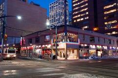Escena de la calle de Calgary Fotos de archivo