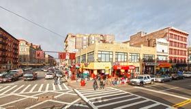 Escena de la calle de Harlem Fotografía de archivo