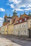 Escena de la calle de Kalmar Foto de archivo libre de regalías