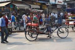 Escena de la calle de Pedicab Foto de archivo