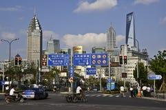 Escena de la calle de Shangai Fotografía de archivo libre de regalías
