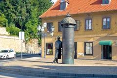 Escena de la calle de Zagreb Croatia Imagen de archivo