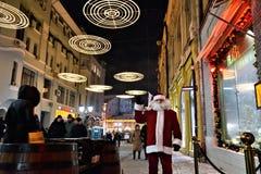 Escena de la calle del invierno de Moscú Imagenes de archivo