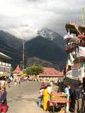 Escena de la calle en la ciudad de Rekongpeo Fotos de archivo libres de regalías