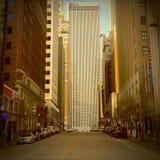 Escena de la calle en la ciudad de Tulsa fotos de archivo libres de regalías