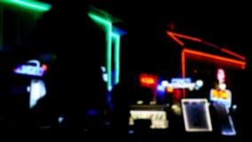 Escena de la calle en la noche metrajes