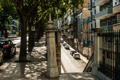Escena de la calle en Lisboa, Portugal julio de 2015 Imagen de archivo