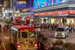 Escena de la calle en Mongkok Foto de archivo libre de regalías