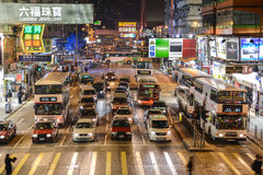 Escena de la calle en Mongkok, Hong Kong Fotografía de archivo libre de regalías