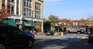 Escena de la calle en Northampton, Massachusetts 4K almacen de video