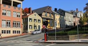 Escena de la calle en la providencia, Rhode Island 4K almacen de metraje de vídeo