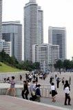 Escena de la calle en Pyongyang. Fotos de archivo libres de regalías