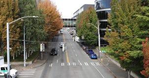 Escena de la calle en Seattle, Washington 4K almacen de metraje de vídeo