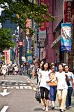 Escena de la calle en Seul Imagen de archivo libre de regalías