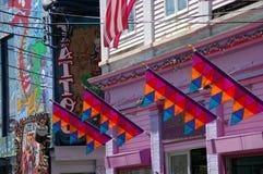 Escena de la calle: P-ciudad Cape Cod 3 Imagen de archivo libre de regalías