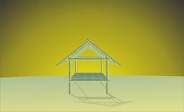 Escena de la casa de bambú Foto de archivo libre de regalías