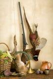 Escena de la caza con el rifle Imágenes de archivo libres de regalías