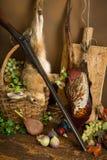 Escena de la caza con la fruta Foto de archivo
