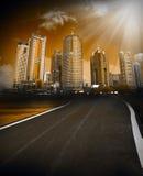 Escena de la ciudad Imagenes de archivo