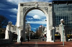 Escena de la ciudad de Christchurch Foto de archivo libre de regalías