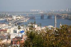 Escena de la ciudad de Kyiv fotografía de archivo libre de regalías