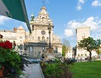 Escena de la ciudad de Lviv (Ucrania). 10 DE MAYO DE 2012 Imagenes de archivo